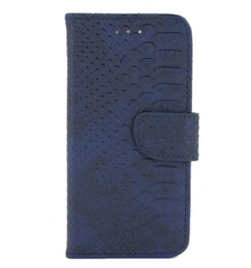 Mobicase Apple iPhone 7 / 8 Book Case SnakeSkin Blauw