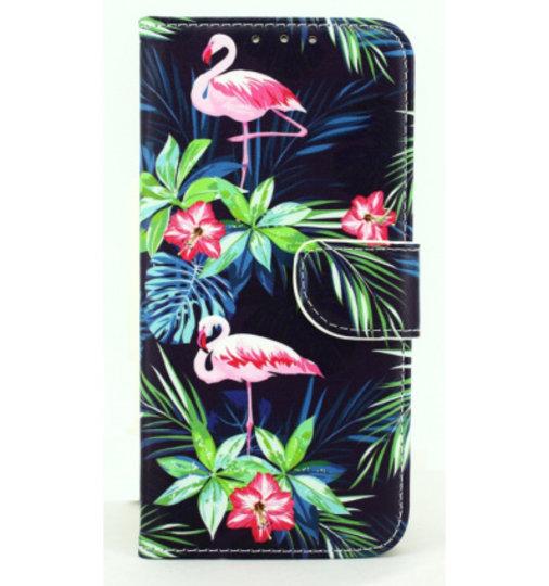 Mobicase Apple iPhone 7 Book Case Flamingo Dark