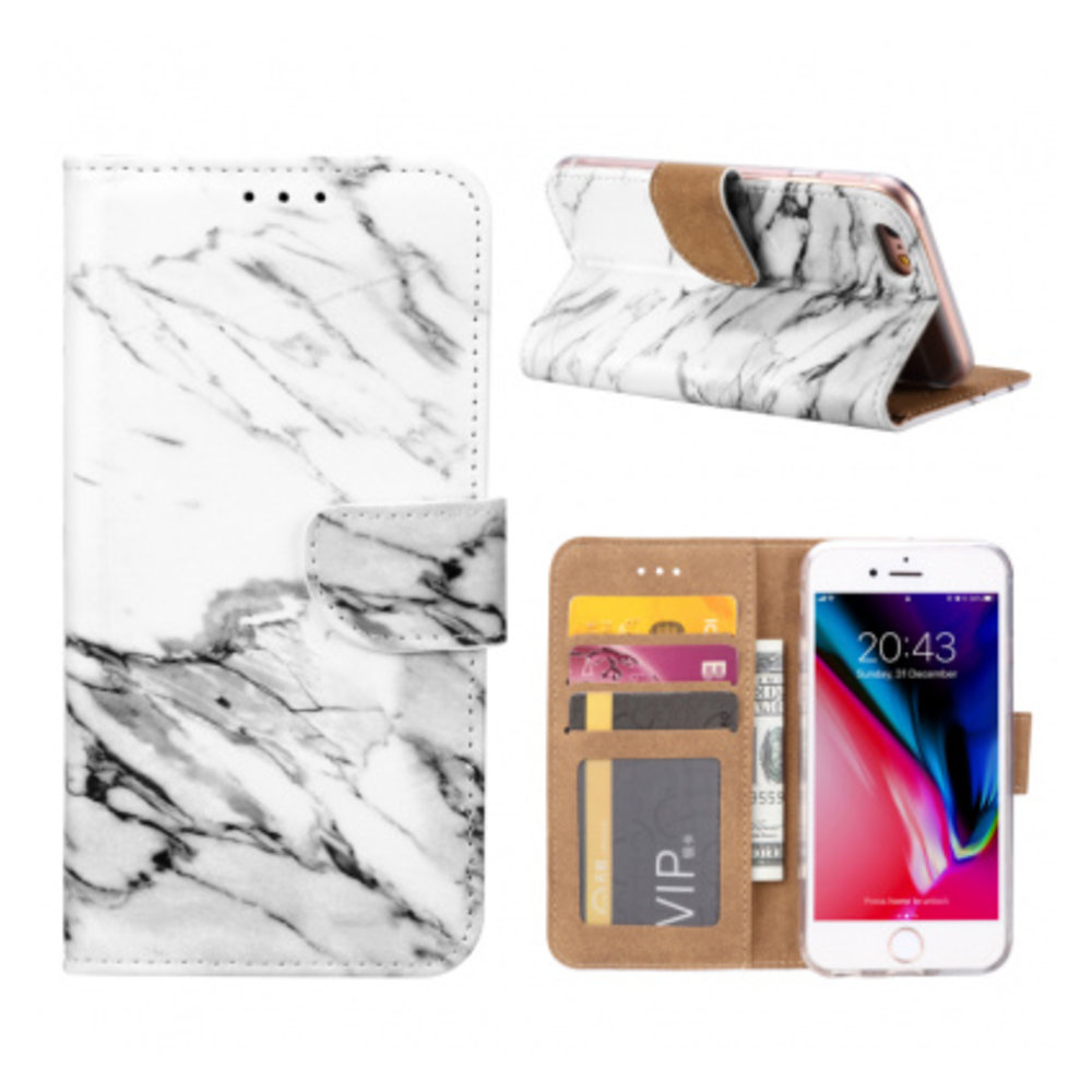 Mobicase Apple iPhone 7 Book Case Marmer