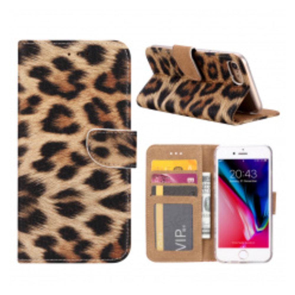 Mobicase Apple iPhone 7 Book Case Luipaard Bruin