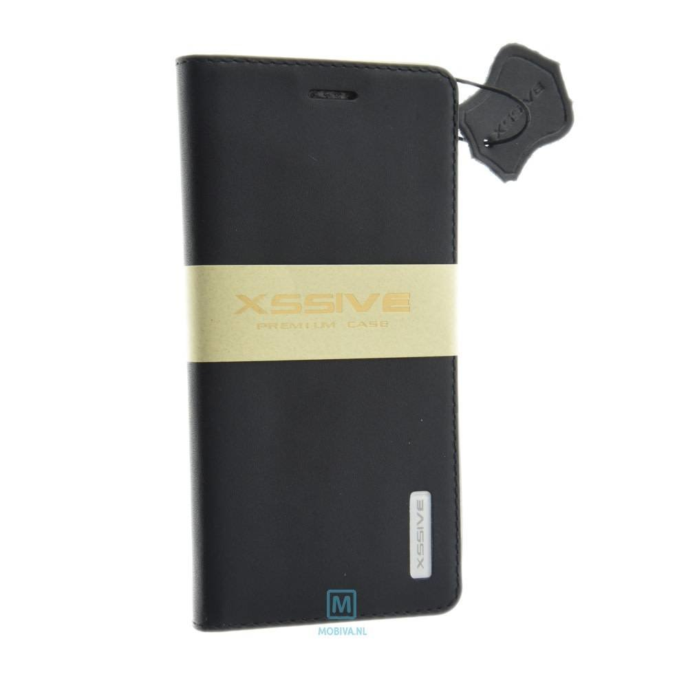 Xssive Huawei P8 Lite 3-in-1 Book Case PU-Leer Zwart