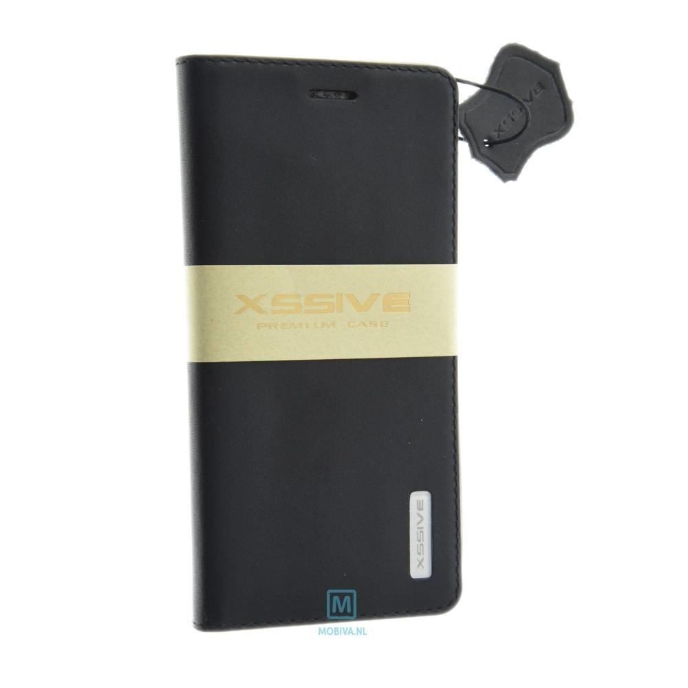Xssive Huawei P8 Lite Flip Wallet Zwart