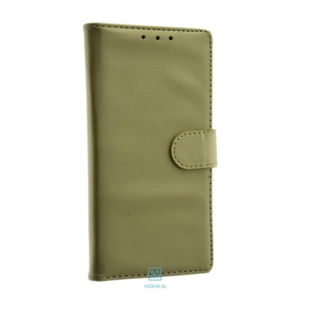 Mobicase Huawei P8 Lite Book Case Flexibel Goud