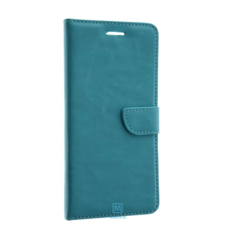 Mobicase Huawei P10 Book Case Flexibel Aqua Blauw