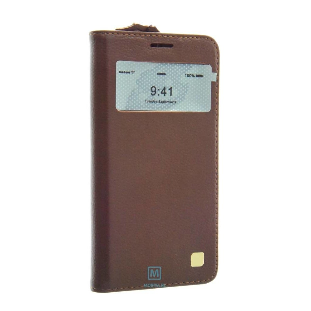 Mobicase Samsung Galaxy S6 Kaiyue S-View Cover Bruin