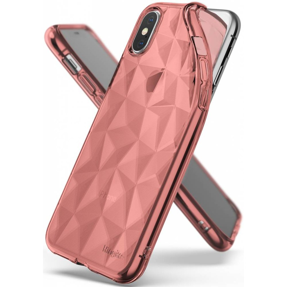 Ringke Apple iPhone X/XS Ringke Air Prism Rose Gold Hoesje