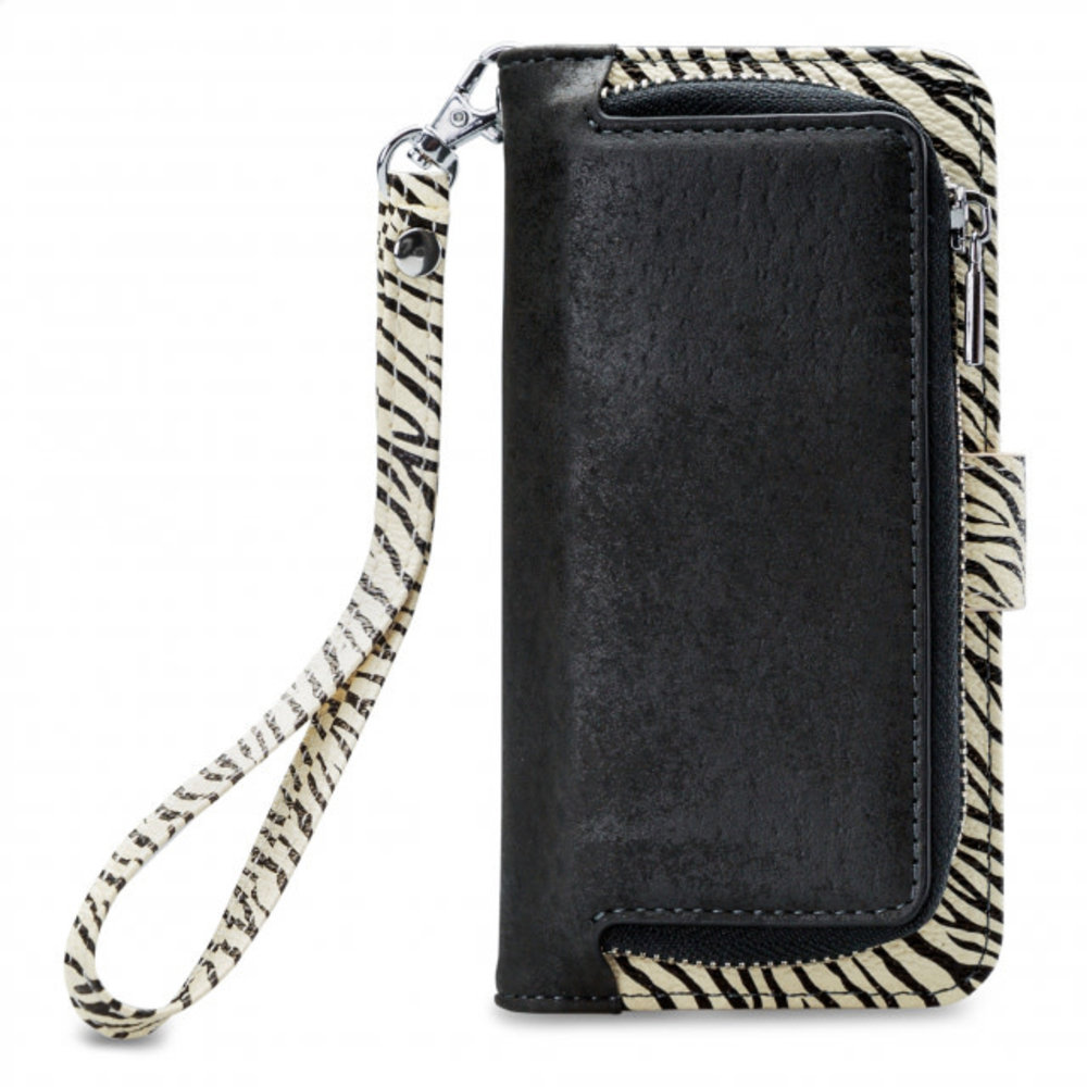 Mobilize Mobilize 2in1 Gelly Wallet Zipper Case Apple iPhone 6/6S/7/8 Plus Black/Zebra
