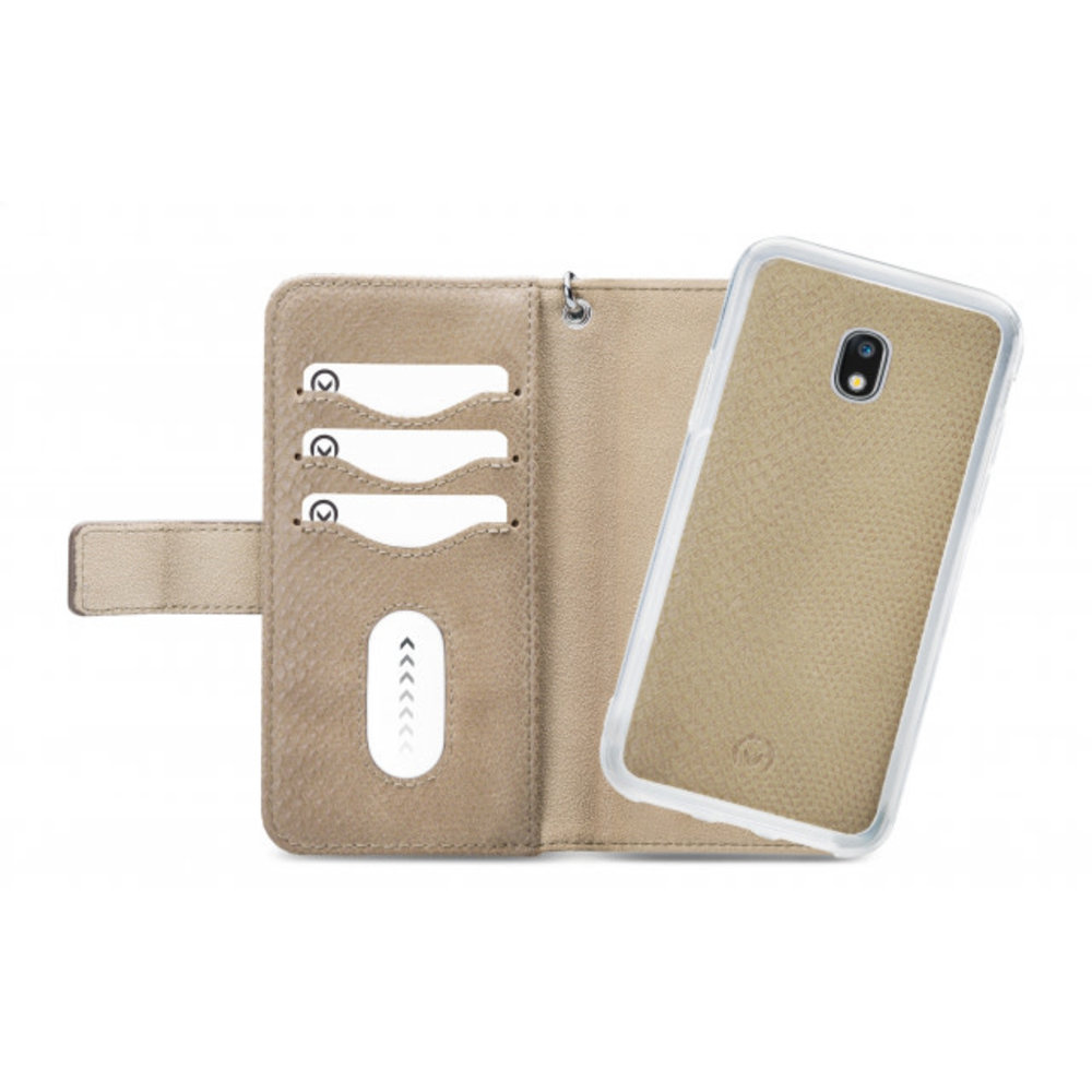 Mobilize Mobilize 2in1 Gelly Wallet Zipper Case Samsung Galaxy J3 2017 Latte