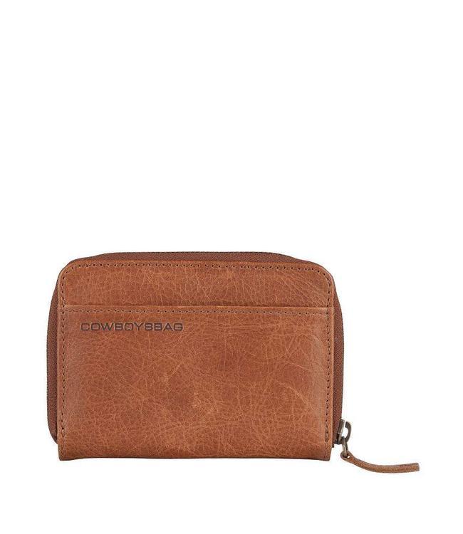 Cowboysbag Purse Haxby Cognac-compacte damesportmonnee