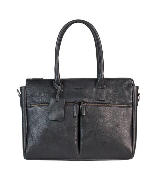 "Burkely Antique Avery dames laptopbag 15.6"" zwart"