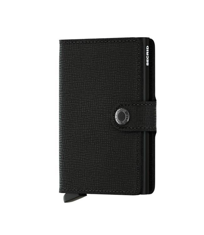 Secrid Miniwallet Crisple Black-pasjeshouder RFID beschermd