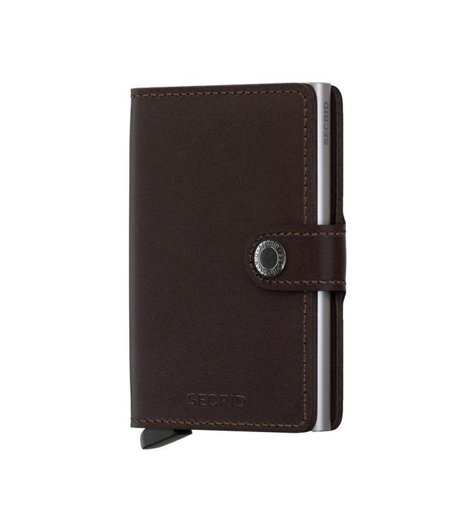 Secrid Miniwallet Original Dark Brown-pashouder met RFID protectie