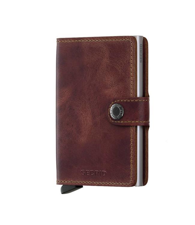 Secrid Miniwallet Vintage Brown-pashouder met RFID protectie