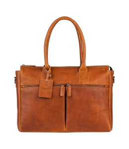 "Burkely Antique Avery 698856 laptopbag 15.6"" cognac"