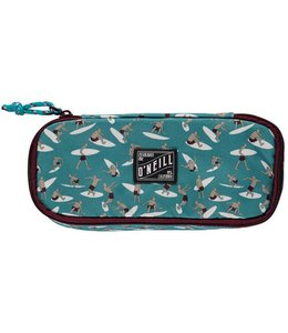 O'Neill Box pencil case green aop