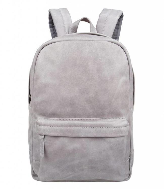 "Cowboysbag Bag Brecon grey-leren 15.6"" laptop rugzak"