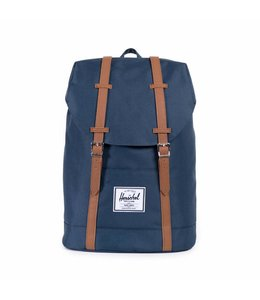 Herschel Retreat rugtas navy/tan synthetic leather