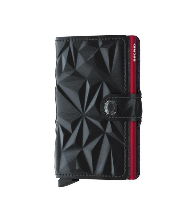 Secrid Miniwallet Prism black red-pasjeshouder RFID beschermd