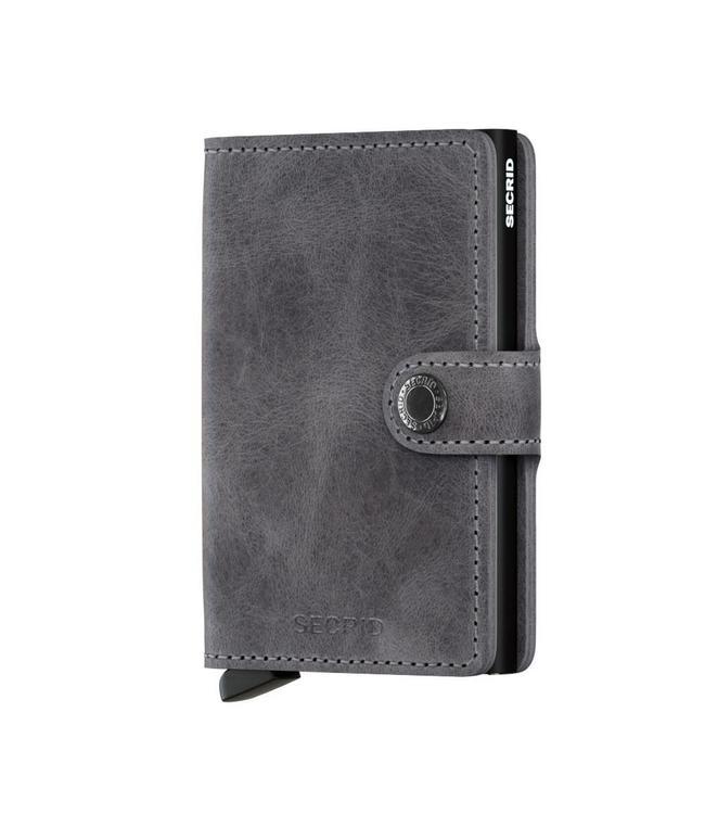 Secrid Miniwallet Vintage Grey black-pasjeshouder RFID beschermd