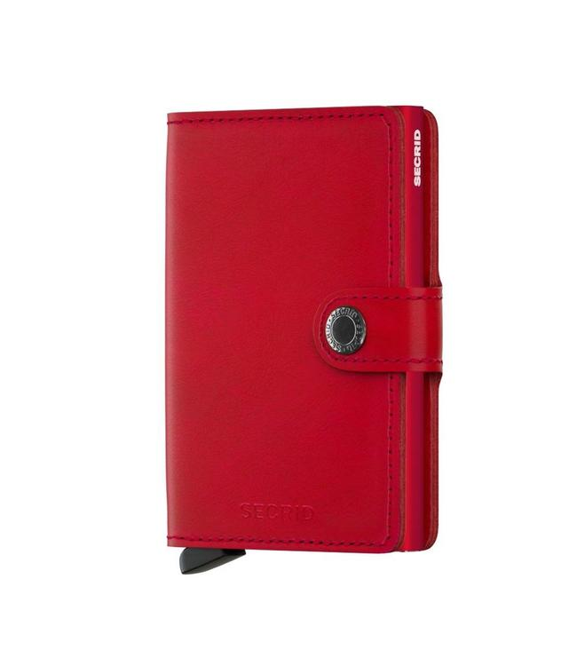 Secrid Miniwallet Original Red red-pasjeshouder RFID beschermd