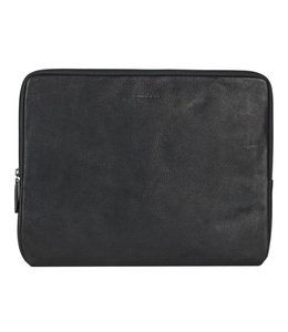 "Burkely Antique Avery 14"" laptop sleeve zwart"