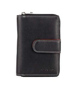 Burkely Multicolour wallet loop zip black