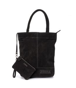 Zebra Trends Natural bag kartel suede black