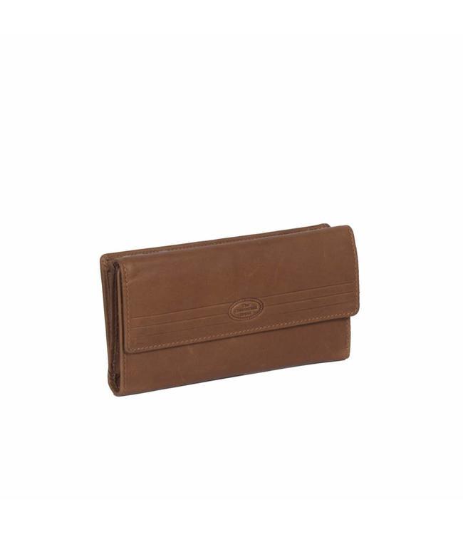 Chesterfield Ascot ladies wallet cognac-damesportemonnee met rits en klep