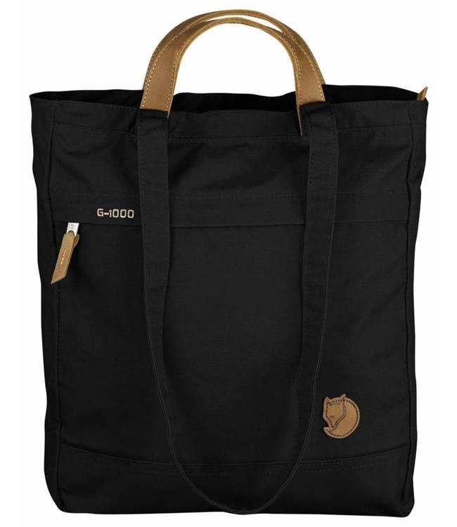 Fjällräven Totepack No.1 black-super sterke shopper, rugzak