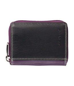 Burkely Multicolor wallet cc zip black