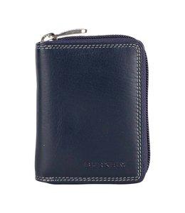 Burkely Multicolor wallet cc zip blauw