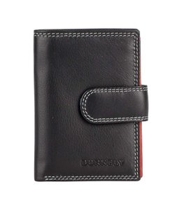Burkely Multicolor cc holder loop flap black