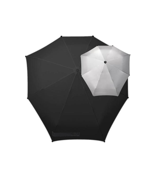 Senz Manual silver sky-opvouwbare storm paraplu