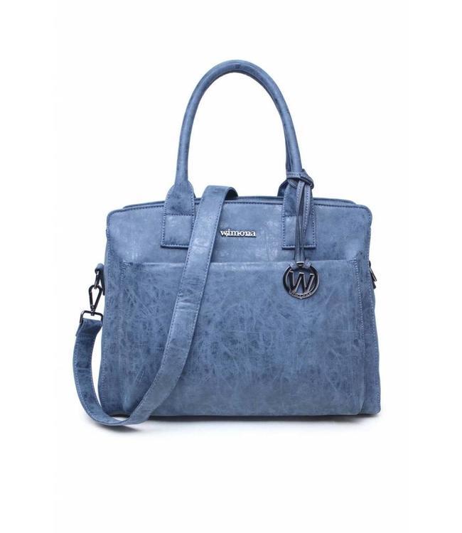 "Wimona 2060 Isabella blauw- Dames businesstas met 14"" laptopvak"
