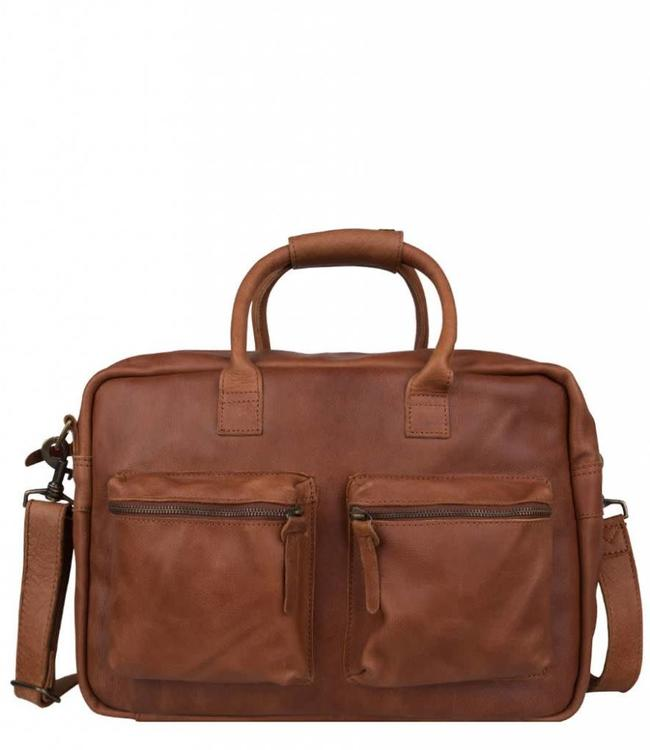 "Cowboysbag The College Bag 15.6"" cognac-leren laptoptas"