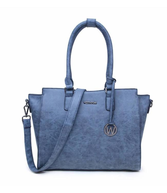 Wimona 2040 Bella blauw-stijlvolle damestas met laptopvak