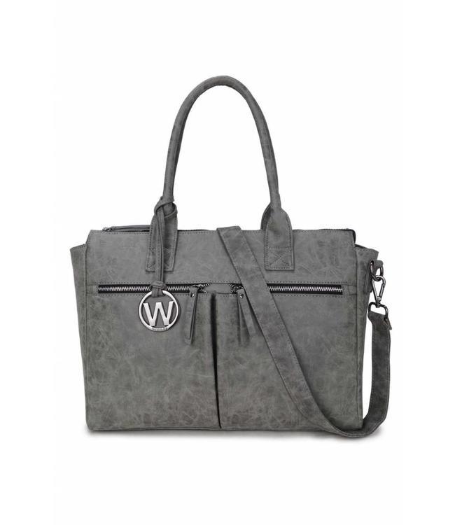 Wimona Catarina Vintage grijs-stijlvolle damestas met laptopvak
