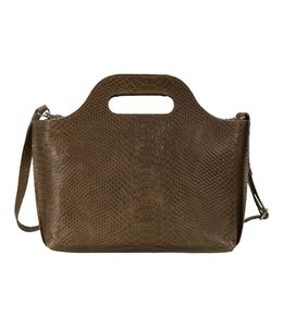 MYOMY My Carry Bag mini anaconda taupe