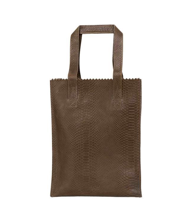MYOMY My Paperbag Long Handle Zip anaconda taupe