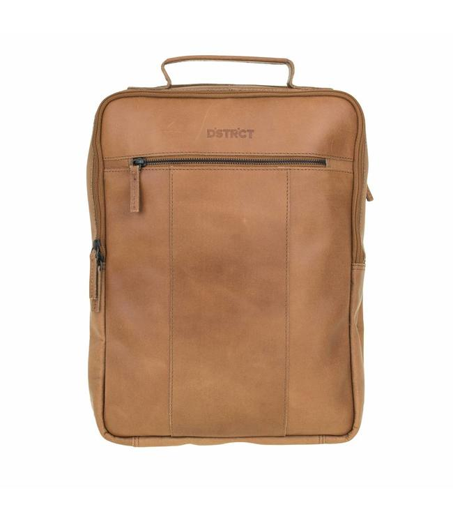 DSTRCT Riverside A4 backpack cognac