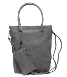 Zebra Trends Natural bag kartel xl met rits dark grey