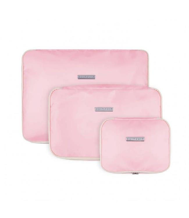 Suit Suit Fabulous Fifties Packing Cube Set (S-M-L) pink dust