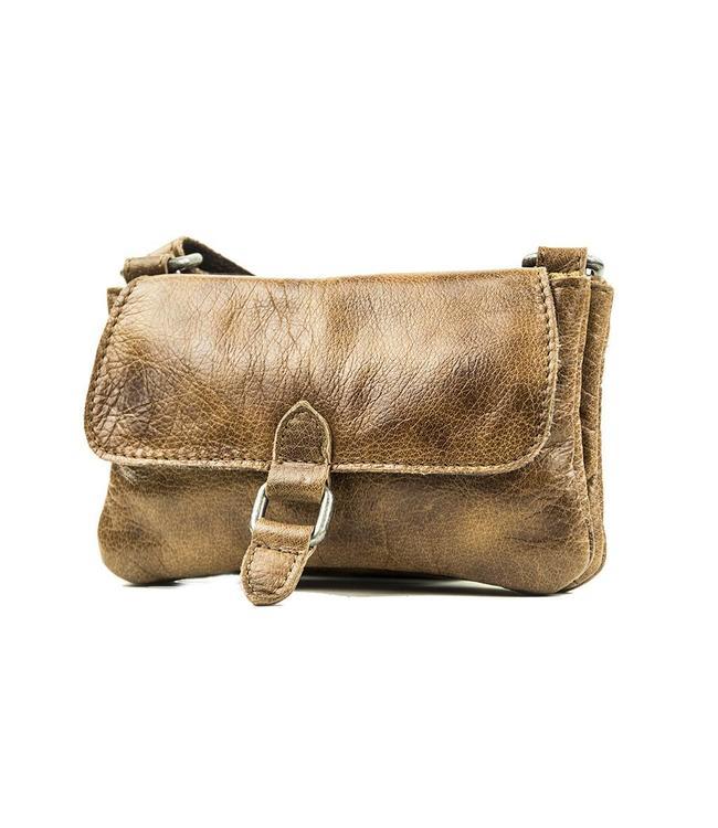 BAG2BAG Nova clutch brown