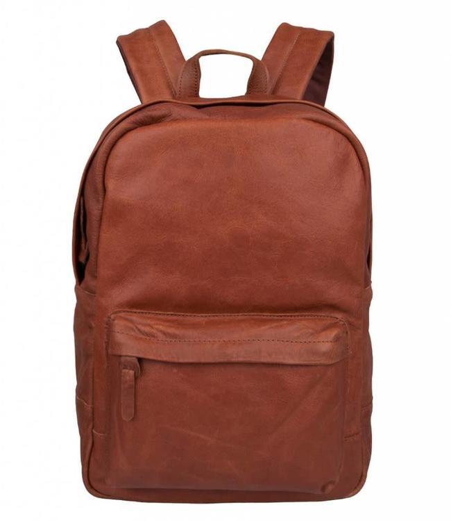 "Cowboysbag Bag Brecon cognac-leren 15.6"" laptop rugzak"