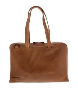 "Plevier Pure 710 Dames business shopper 15.6"" cognac"