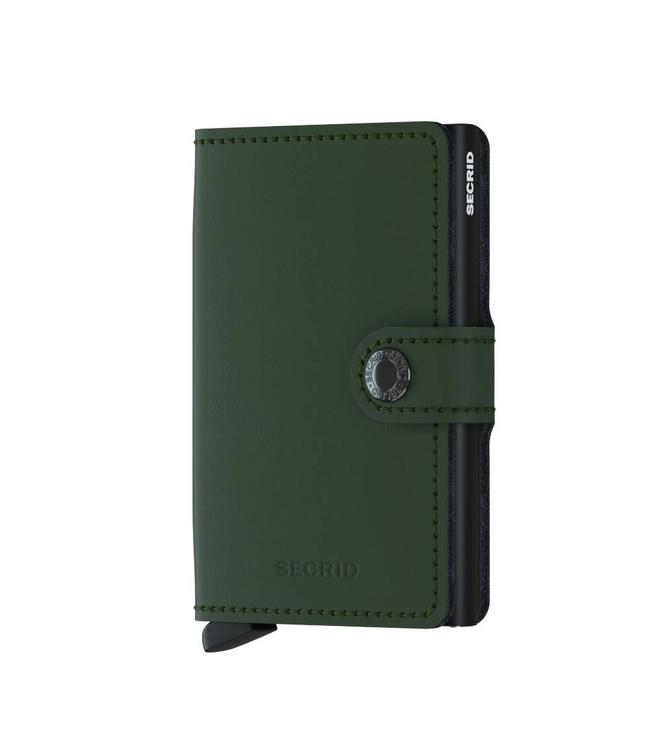 Secrid Miniwallet Matte green black