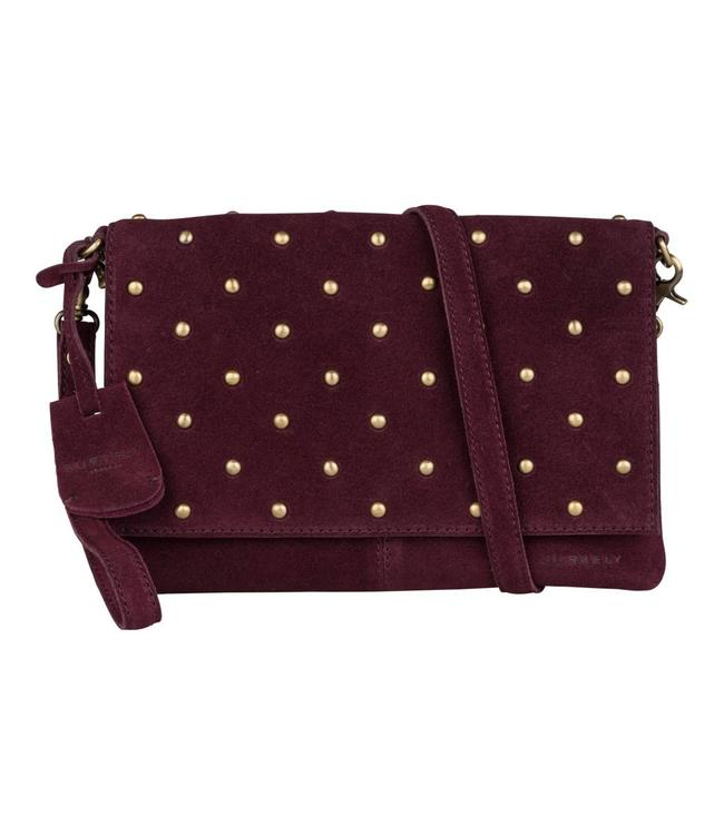 Burkely Evening clutch studs paars