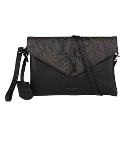 Burkely Evening snake clutch zwart groen