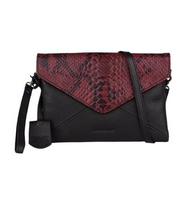 Burkely Evening snake clutch zwart paars
