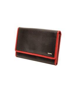 Berba Soft 303 damesportemonnee zwart-rood